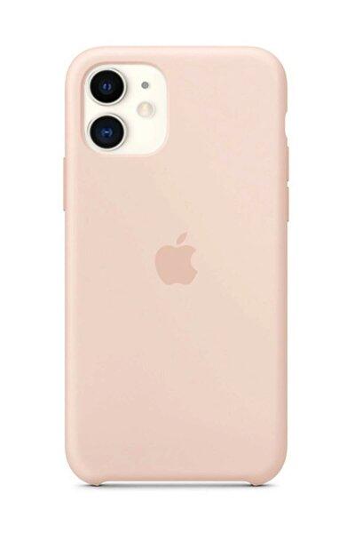 Iphone 11 Silikon Kılıf Kum Pembesi Iç Kısım Yumuşak Mikrofiber Kaplama Silikon Kılıf
