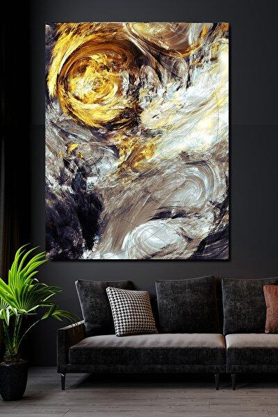100x140 Sürreal Silver & Gold Kanvas Tablo