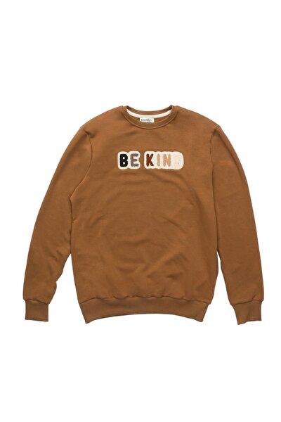 Be Kind Dokuma Kabartmalı Sweatshirt
