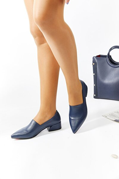 Kadın Lacivert Topuklu Ayakkabı