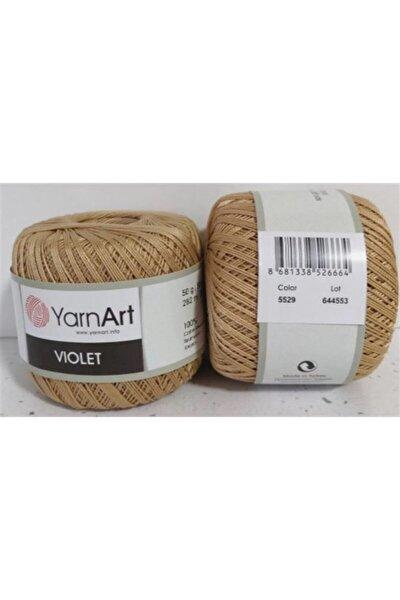 Violet 5529 Koyu Bej 50 Gr. Pamuklu Dantel Örgü Ipi