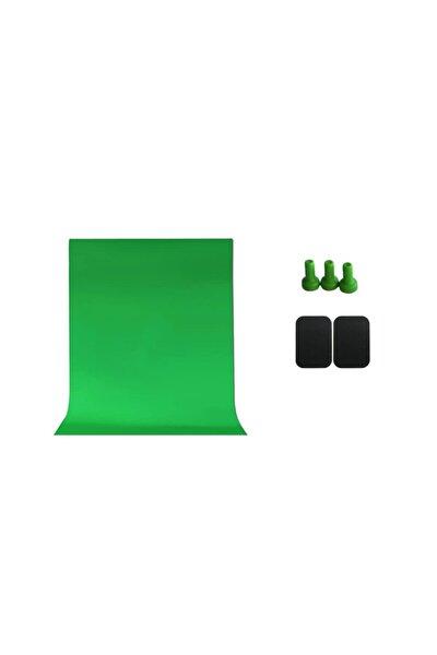 Greenbox Chromakey Green Screen Yeşil Fon Perde 150x240 Cm Ve Mıknatıs Kiti