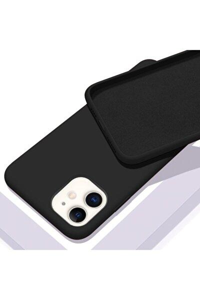 Apple Iphone 11 (6.1) Içi Kadife Lansman Silikon Kılıf Siyah