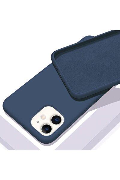 Apple Iphone 11 (6.1) Içi Kadife Lansman Silikon Kılıf Lacivert