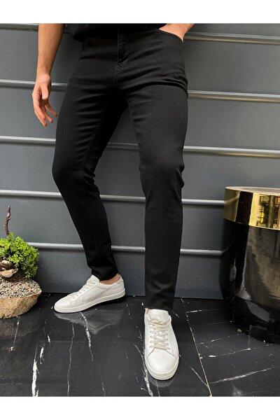 Erkek Siyah Slim Fit Pantolon Hlt He001937
