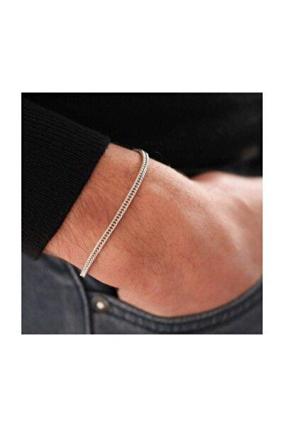 Unisex Gümüş Renk Tilki Kuyruğu Zincir Bileklik