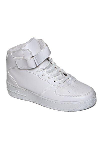 Unisex Beyaz Bilekli Spor Ayakkabı