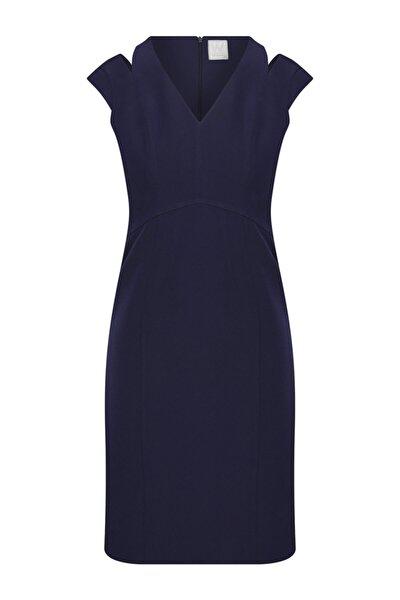 Kadın Lacivert Kalem Elbise