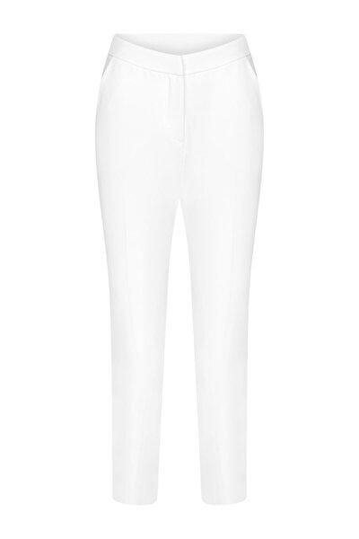 Kadın Ekru Basic Pantolon