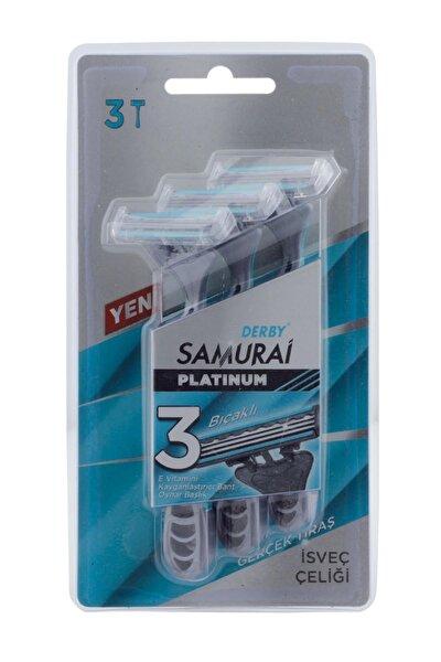 Samurai Platinum 3 Bıçaklı Isveç Çeliği 3'lü Tıraş Bıçağı