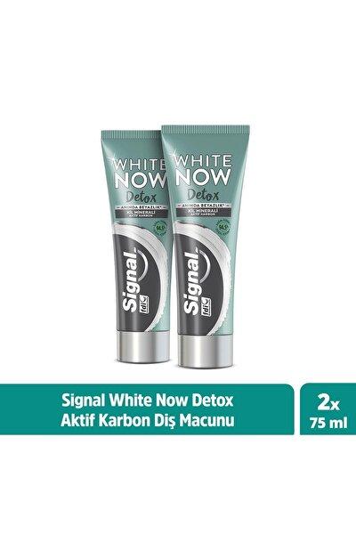 White Now Detox Kil Minerali & Aktif Karbon Diş Macunu 75 ml X2