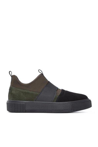 Erkek Siyah Deri Sneaker 352 13069