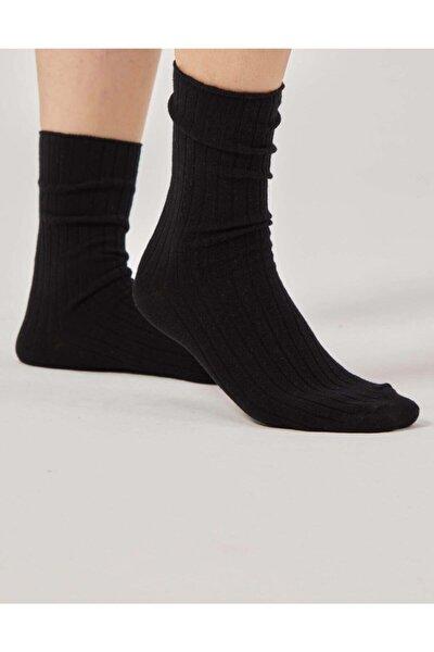 Siyah Fitilli Çorap
