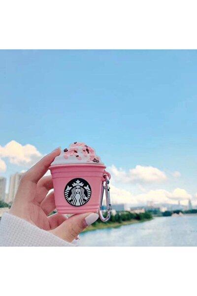 Apple Airpods Koruyucu Kılıf Pembe Köpüklü Kahve - Airpods 1 Ve 2