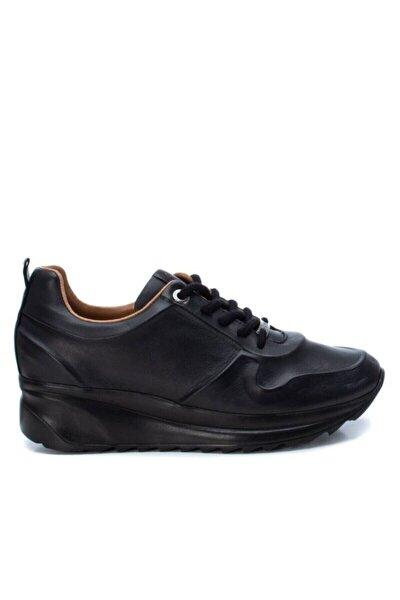 Kadın Siyah Hakiki Deri Spor Ayakkabı 658