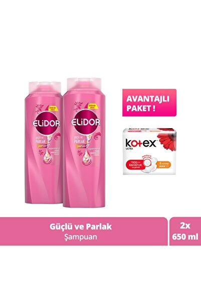 Güçlü Ve Parlak Şampuan 650ml X2 8'li Kotex Normal