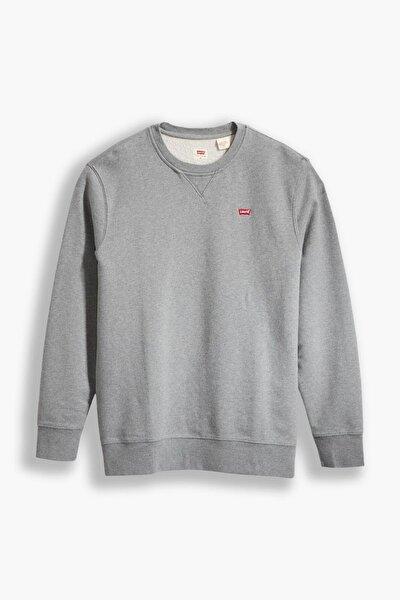 Erkek Gri New Orıgınal Crew Tr Chısel  Heath Sweatshirt