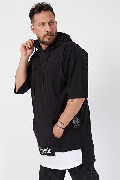 Erkek Kapşonlu Oversize T-shirt