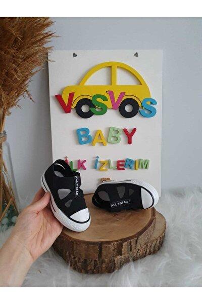 Unisex Çocuk Siyah Sandalet