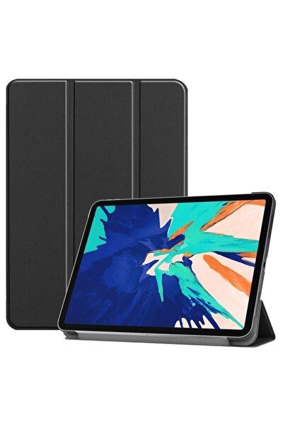 "Apple Ipad 8.nesil 10.2"" Uyumlu Pu Deri Smart Case Siyah Kılıf A2270 A2428 A2429 A2430"