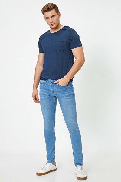 Erkek Açık İndigo Jeans