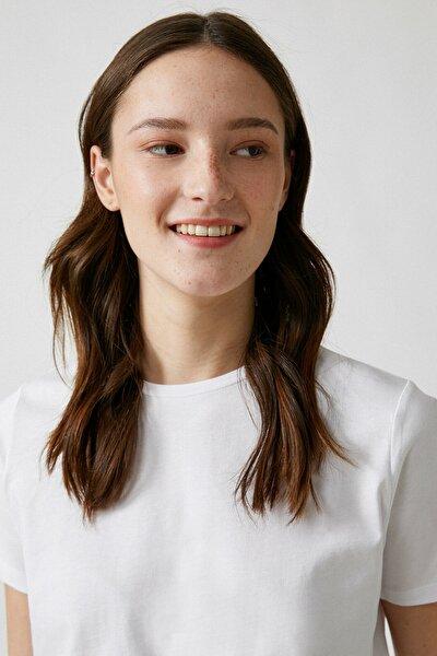 Kadın Kırık Beyaz T-Shirt 1YAK13049EK