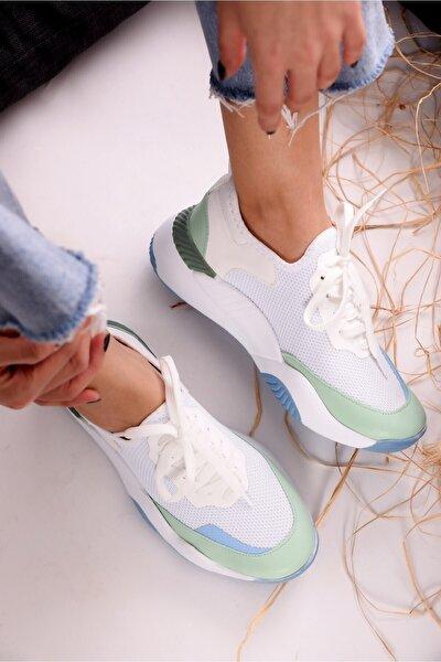 Kadın Camelia Yeşil Günlük Spor Ayakkabı