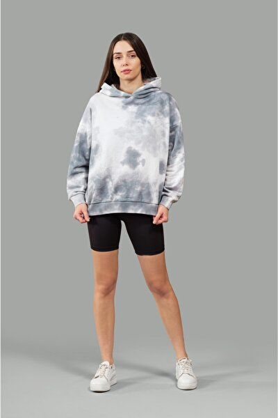 Kapüşonlu Batik Sweatshirt