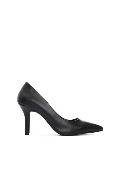 Kadın Siyah Vegan Stiletto Ayakkabı 26 35036