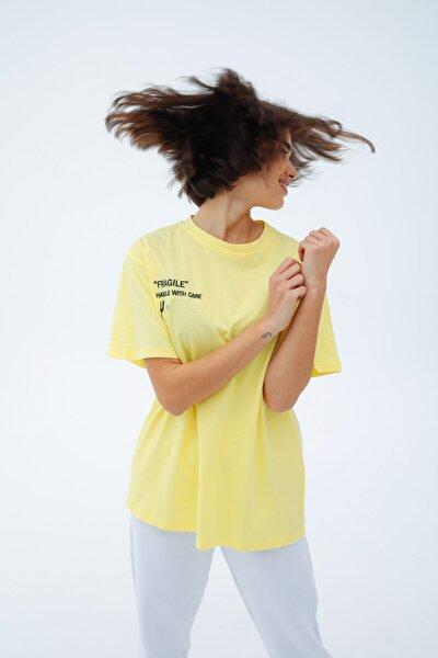 Fragile Sarı T-shirt