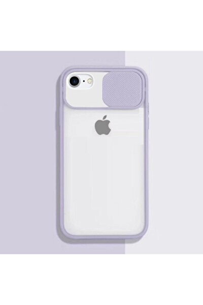 İPhone 7 Uyumlu Kılıf Slayt Sürgülü Kamera Korumalı Renkli Silikon