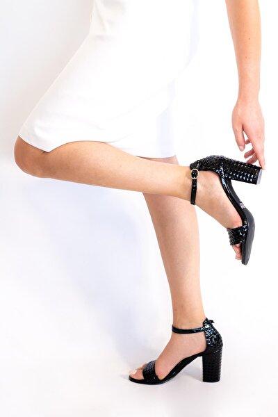 Kadın Siyah Silvy Topuklu Sandalet