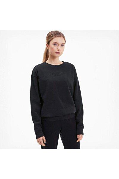 MODERN BASICS CREW FL Siyah Kadın Sweatshirt 101119452