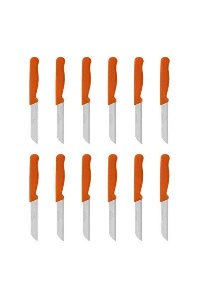 Simli Meyve Bıçağı 12'li Turuncu