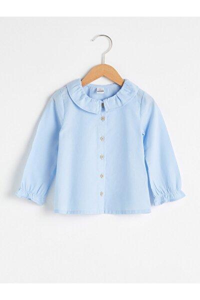 Kız Bebek Mavi Gömlek