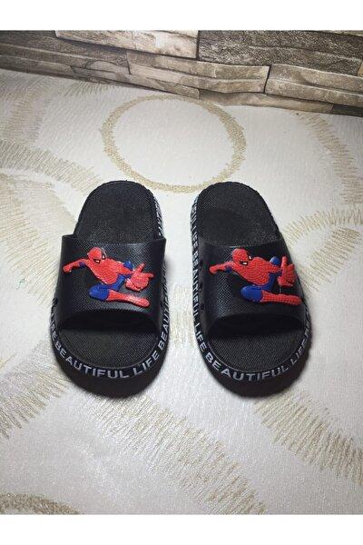 Erkek Çocuk Siyah Spiderman Tasarımlı Terlik