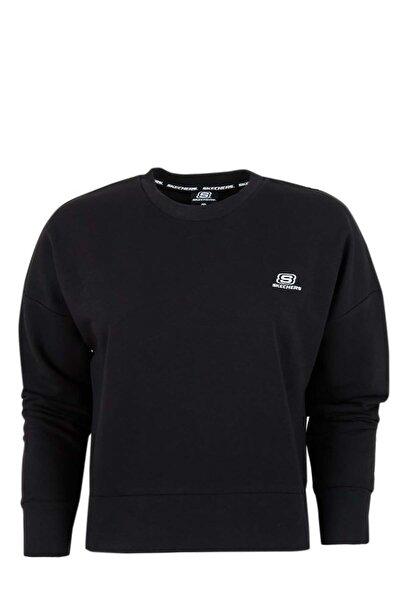 Lightweight Fleece W Low Sleeve Crew Neck Sweatshirt Kadın Siyah Sweatshirt S201033-001