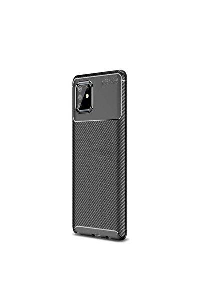 Teleplus Galaxy Note 10 Lite Kılıf Negro Karbon Dokulu Silikon Siyah