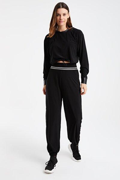 Belde Şerit Detay Cepli Paçası Lastikli Pantolon