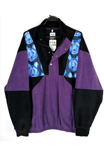 Kadın Erkek Yarım Fermuarlı Polar Sweatshirt