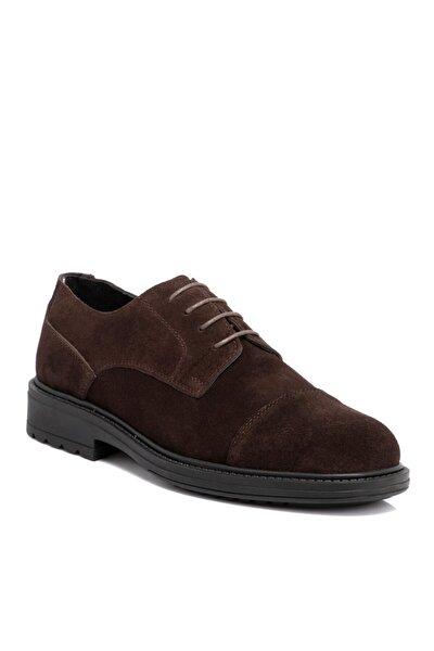 Kahverengi Süet Deri Erkek Ayakkabı 55016b85