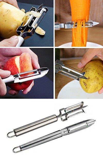 Multifonksiyonel Paslanmaz Çelik Oyacak Ve Soyacak Seti Pratik Meyve Sebze Soyucu Set