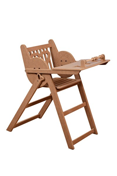 Ahşap Bebek Mama Sandalyesi