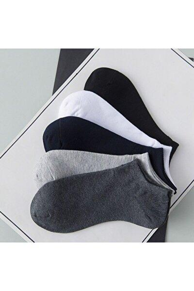 Unisex 5 Li Basic Patik Çorap