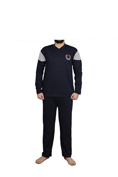 Erkek Lacivert Uzun Kollu Kalın Pijama Takımı 910