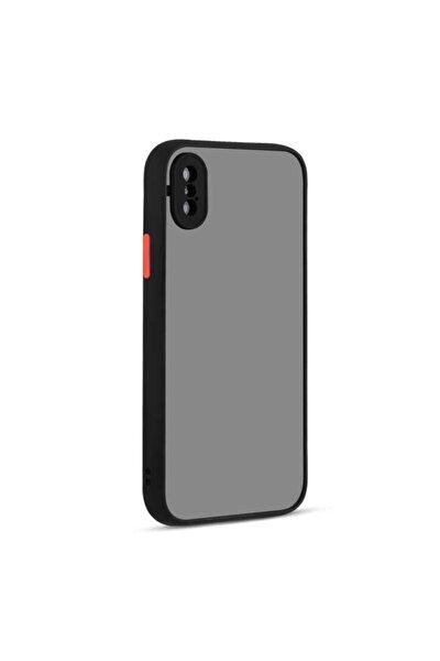 Teleplus Iphone X Kılıf Hux Kamera Korumalı Silikon Siyah