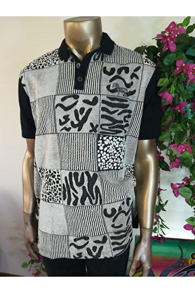 Erkek Siyah Gri Polo T-shirt