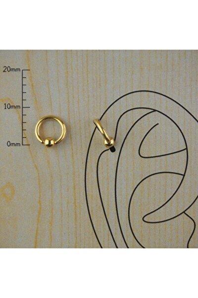Gold Cerrahi Çelik Tam Halka Kıkırdak Tragus Piercing 6 Mm