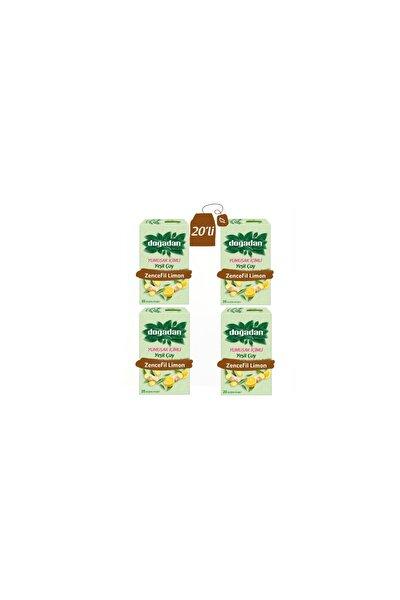 Yumuşak Içimli Yeşilçay Zencefil Limon Karışımı 4'lü