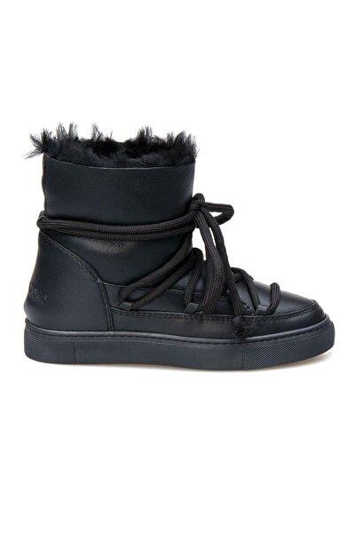 Kadın Siyah Kürklü Sneaker 355060